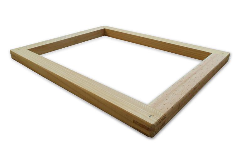 Quadro para serigrafia de madeira pinus no formato 40x50 cm