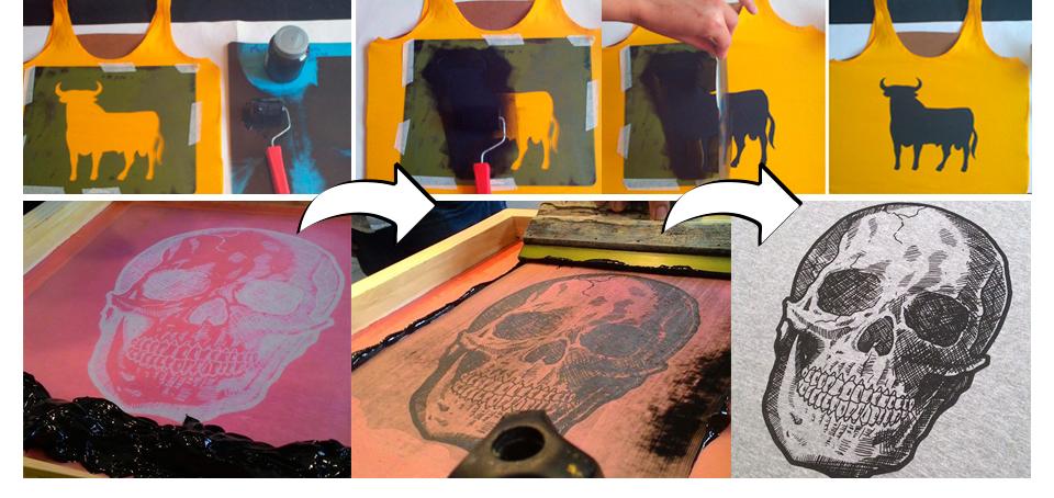 comparação entre o stencil e a serigrafia
