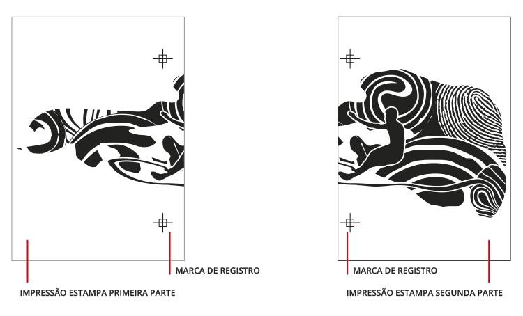 Emenda de fotolito para serigrafia