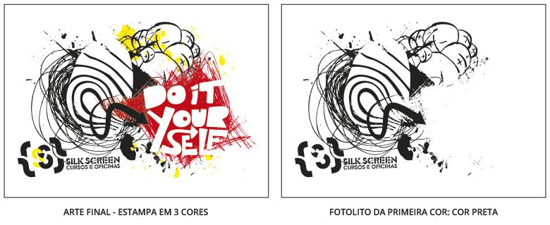 Fotolito para serigrafia em 3 cores